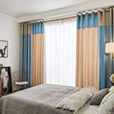 Blackout Curtains Finished Simple and Modern Floor to Ceiling Windows Bedroom Living Room Bay Window 2018 New (Size : 2.5 * 2.7m)