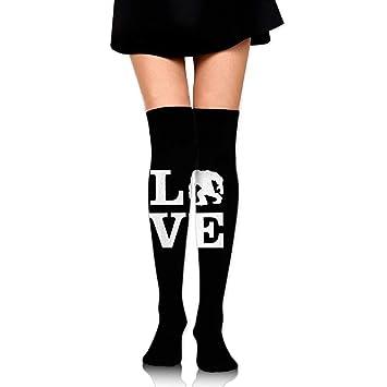 zengjiansm Calcetines Altos Love Bigfoot Socks Womens Crew Champion Athletic Dresses Thigh Over High Knee Long