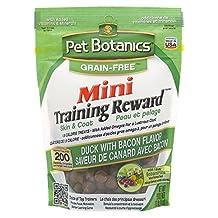 Cardinal Pet Botanics Mini Training Rewards Grain-Free Duck with Bacon Treats for Dogs (1 Pouch), 4 oz