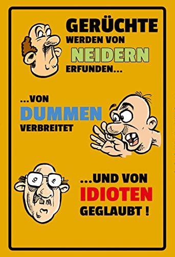Gerüchte Blechschild Metallschild Schild gewölbt Metal Tin Sign 20 x 30 cm
