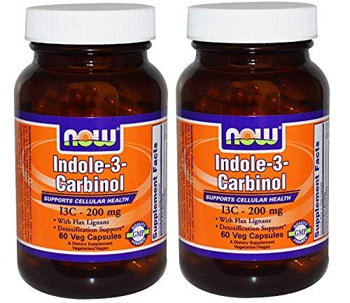 Indole-3-Carbinol I3C 200 mg – 60 Veg Capsules x 2 Bottles