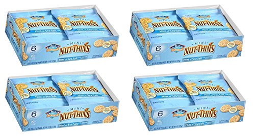 Thins Almond (Blue Diamond Mini Nut Thins, Hint of Sea Salt, (Four 6-packs))