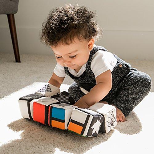 51dNAdNcv5L - Baby Einstein Infinity Block High Contrast Soft Block Toy, Newborns and up