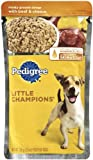 Pedigree Meaty Ground Dinner with Beef and Cheese Food for Adult Dogs, 5.3-Ounce Pouches (Pack of 24), My Pet Supplies