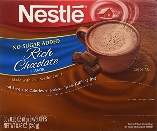 Nestle Cocoa Mix No Sugar Added 30 Count .28 Oz (Hot Cocoa Mix No Sugar)