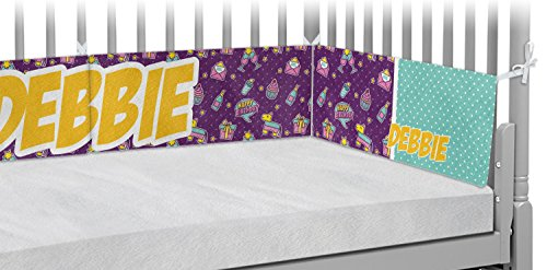Pinata Birthday Crib Bumper Pads (Personalized) by RNK Shops