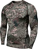 Tesla TM-R11-PCKZ_2X-Large Men's Long Sleeve T-Shirt Baselayer Cool Dry Compression Top R11