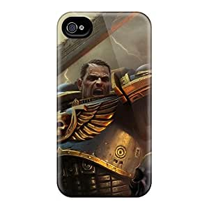 Tpu Case Cover For Iphone 4/4s Strong Protect Case - Warhammer 40k Space Marine Design