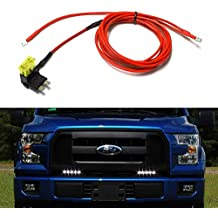 iJDMTOY (1) Universal 2-Output LED Daytime Running Light DRL Enable Wiring Harness w/Standard Size Add-A-Circuit 20AMP Fuse Adapter For Car Truck SUV