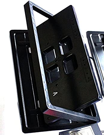 2pcs Hidden Electric License Car Plate Frame Flip Turn Over USA Type w// Remote