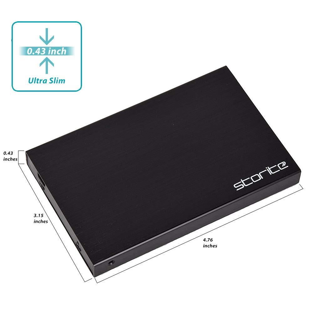 CHROMEBOOK negro 200GB PS3 PS4 port/átil PC 2.5 pulgadas 2.0 USB Slim disco duro para almacenamiento//copia de seguridad para computadora MAC Storite externo port/átil Hardrive HDD XBOX