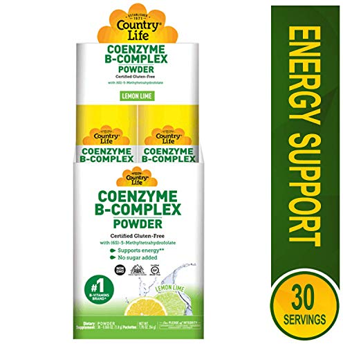 Country Life Coenzyme B-Complex Powder Lemon Lime 30 Packettes, 0.2 Pound