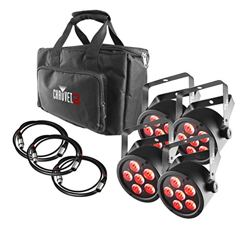 CHAUVET DJ SlimPACK T6 USB - 4 SlimPAR T6 USB Lights & 3 DMX Cables w/Gear Bag | LED Lighting by CHAUVET DJ