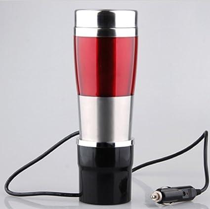 LZH Hervidor de agua eléctrico de ebullición del coche, taza de calefacción Vacío de acero