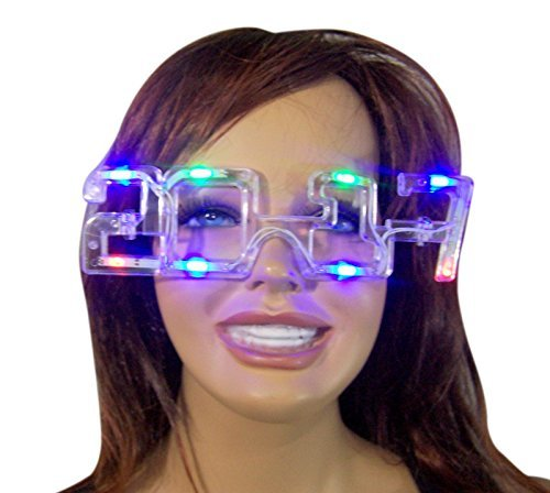 [2017 Happy New Years LED Light Up Flashing Glasses] (Happy New Year Costumes)
