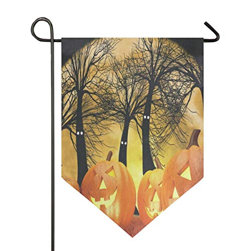(IDO Sweet Home Garden Flag Vertical Double Sided Spring Summer Fantastic Halloween Pumpkins and Dark Forest Outdoor Yard Flags)