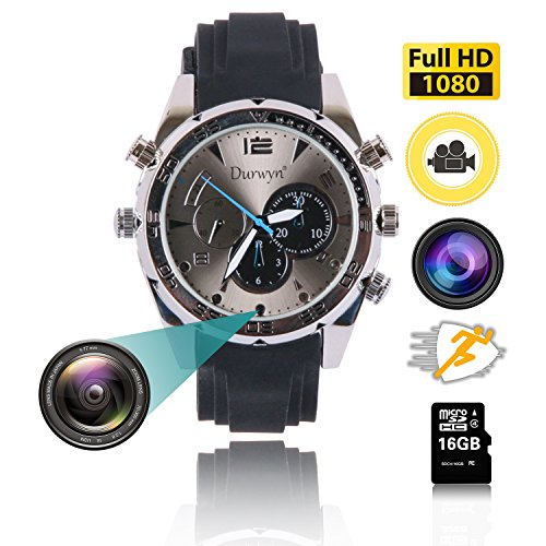 080P Video Watch Camera, Security Camera Loop Video Recorder Built-in 16G Mini Nanny Cam Wristband ()