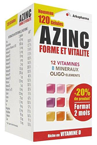 ARKOPHARMA AZINC Forme et Vitalité (120 gélules)