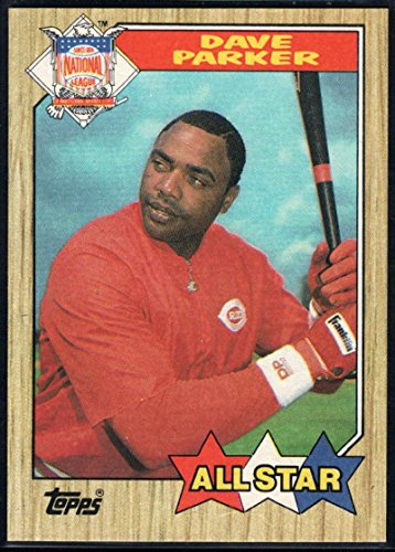 Baseball MLB 1987 Topps #600 Dave Parker AS - Dave Topps Reds Parker