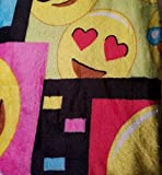 "Emoji Velvet Throw Fleece Blanket 50"" X 60"" Black Multi Color"
