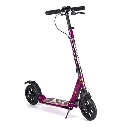 Patinetes de tres ruedas Freestyle Kick Scooter para Adultos Y Niños, Ancho Pedal Djustable T