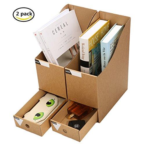 Caveen File Organizer Kraft Paper File Holder Office Supplies ...