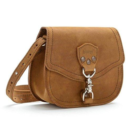 Saddleback Leather Mini Hobo Crossbody Purse - A Casual, Elegant Handbag for Women - 100 Year Warranty (Handbag Square Hobo)
