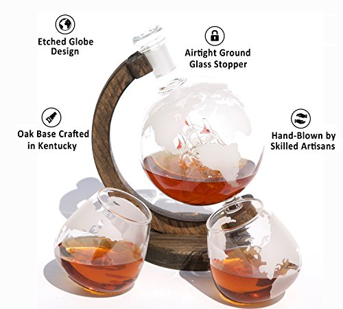 Etched-Globe-Whiskey-Decanter-1000ml-Lead-Free-Glass-Bourbon-Decanter-for-Scotch-Rum-Wine-or-Liquor-34oz-from-Prestige-Decanters-Magellans-Victoria