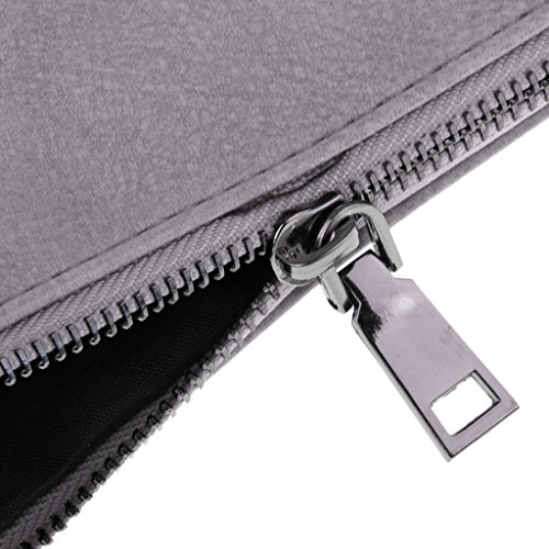 described Business Leather Large Documents Womens Fenteer Black Pouch Handbag PU Bag Gray Briefcase as Messenger tH7wAxUq