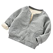 Baseball Coat for Girls, WuyiMC Toddler Baby Girls Cute Autumn Winter Jacket Outwear Warm Clothes (6-12 Months, Grey)