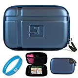 Blue EVA Durable 5.2-inch Protective GPS Carrying Case with Removable Carbineer for Garmin dezl 50LM/50 / 2450 / 1450NOH / 2460LT 5 inch Portable GPS Navigation System + SumacLife TM Wisdom Courage Wristband, Best Gadgets