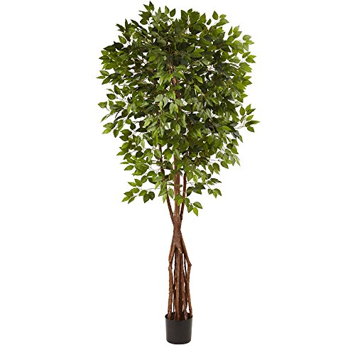 Outdoor Silk Tree (Nearly Natural Super Deluxe Ficus Tree, 7.5')