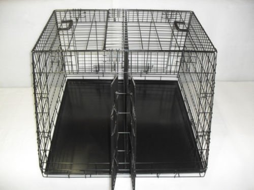 Doghealth Large Car Crate Large Double 36 x 36  3 door sloped with divider