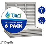 14x14x1 Dust & Pollen Merv 8 Pleated Replacement AC Furnace Air Filter (6 Pack)
