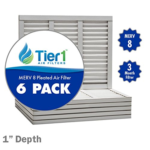 12x24x1 Dust & Pollen Merv 8 Pleated Replacement AC Furnace Air Filter (6 Pack)