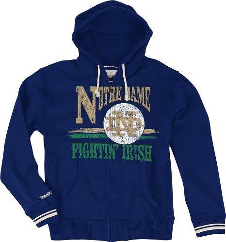 """Notre Dame Fighting Irish Mitchell & Ness """"Start of Season"""" Full Zip Sweatshirt"""