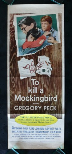 To Kill A Mockingbird * Movie Poster 1963 Gregory Peck