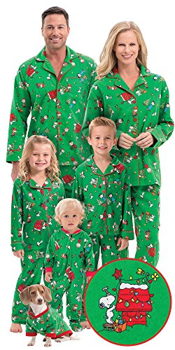 Flannel Charlie Brown Christmas Matching Pajamas for the Family