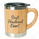 Best Husband Ever-Stainless Steel Bamboo Coffee Mug Insulated with Lid Husband Coffee Mug,Gift for Husband,Husband Mug, Husband Gift, Husband Birthday Gift,Mug for Husband,Husband Gift Idea,Hubby Mug