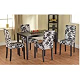 Leaf Print Parson Chair, Set of 2, Contemporary style Standard height