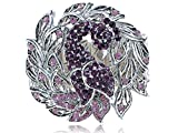 Best Bracelet Bangle With Silver Coloured - Alilang Womens Silver Tone Amethyst Colored Rhinestones Peacock Review