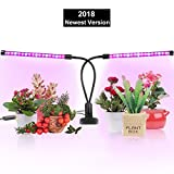 lugongjiaju Grow Lights for Indoor Plants, Horsky 2018 Upgrade Version 40 LED 9 Dimmable Levels Dual Head Timing Grow Light with Red/Blue Spectrum Adjustable Gooseneck 3/6/12H Timer 3 Switch Modes For Sale