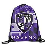 Bieshabi Baltimore Raven Drawstring Backpacks Sack Bag/Bags