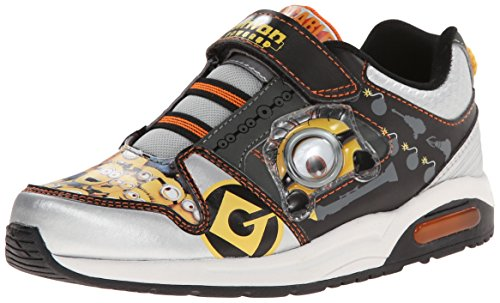 Despicable Me Boy's DESPICABLE ME GOOGLY-EYE ATHLETIC SHOE Shoe, Silver, 10 Child US Toddler (Despicable Me Shoes)