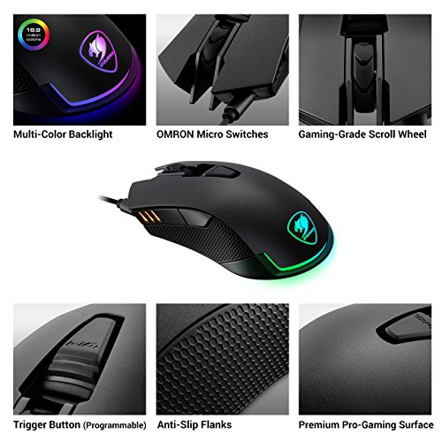 51dNGqtjIyL - Cougar-Revenger-Wired-USB-Optical-Gaming-Mouse-with-12000-DPI-Black-CGR-WOMI-REV