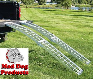 Price comparison product image Mad Dog 8' Arched Folding Ramps Set - Sold as Pair - 1250 lb. Loading Capacity