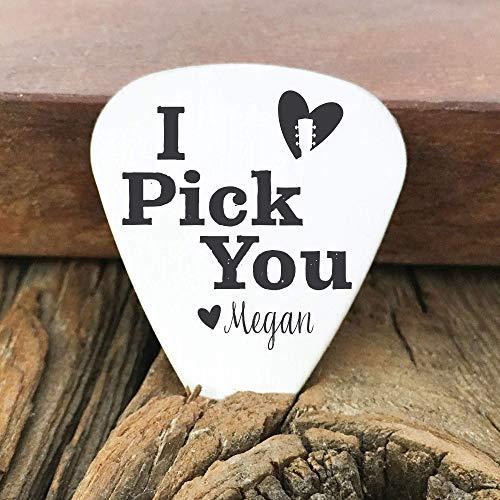 Valentines Day Guitar Pick Gift for Boyfriend Guitar Pick Personalized Guitar Pick Boyfriend Guitar Pick Husband I Pick You Guitar Pick - IPY-PICK