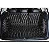 Custom Fit Carpet Liners Full Covered Trunk Mats for AUDI Q5 Color Black with Beige