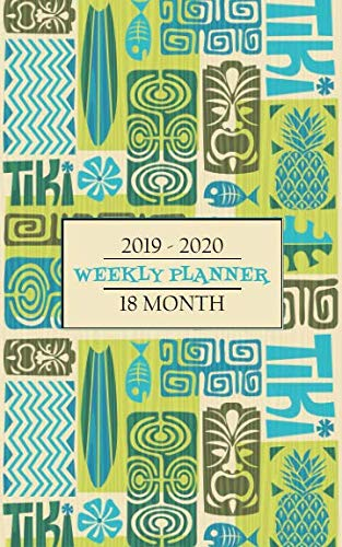 2019 - 2020 Weekly Planner 18 Month: Retro surf boards and tiki masks will keep you thinking of fun times in the islands while you keep your schedule on track for a full 18 months. by New Nomads Press