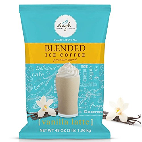 (Angel Specialty Products Vanilla Latte | Blended Ice Coffee | Frappe Mix | 3-Pound Bag [34)